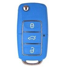 Keyecu Universal Remote Control for KD900 KD900+KEYDIY Remote Control Key for B-Series B01 3 Buttons Luxury-Blue