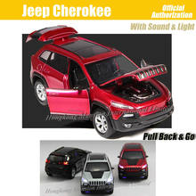 1:32 Scale Luxury Diecast Alloy Metal SUV Car Model For Jeep Cherokee Collection Off-road Vehicle Model Toys Car(China)