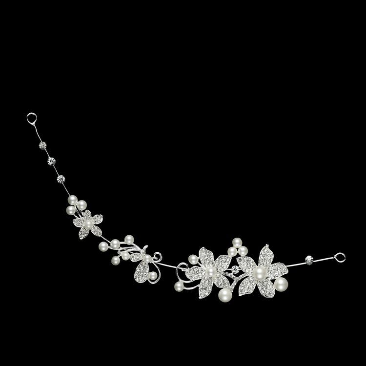 HTB1Zft0PVXXXXa8XVXXq6xXFXXX1 Luxury Silver/Gold Rhinestone Pearl Jewel Flower Hair Accessory For Women - 2 Colors