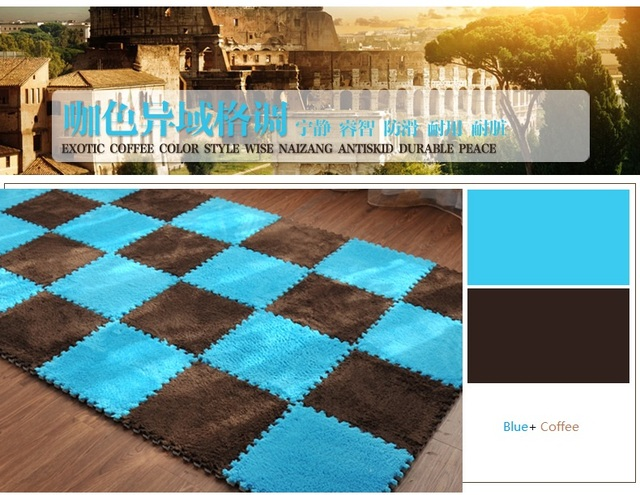 2017 Top Brand Baby EVA Foam Play Puzzle Mat 30cmX30cm,1cm Thick Suede Surface Interlocking Exercise Tiles Floor Mat for Kid