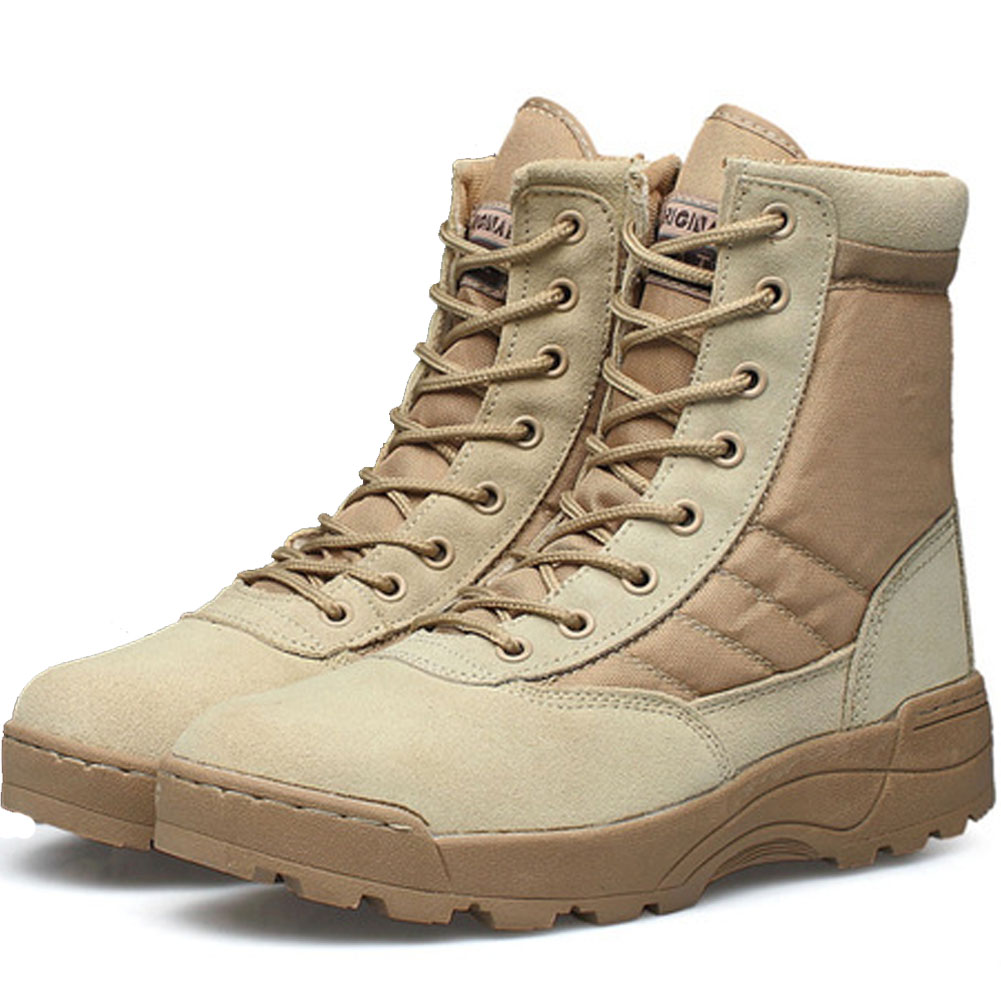 Desert Tactical Military Boots Combat Boots Men font b Shoes b font Work Outdoor Climbing Men