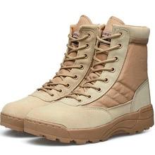 Désert Tactique Militaire Bottes de Combat Bottes Hommes Chaussures de Travail En Plein Air Escalade Hommes SWAT Armée Boot Militares tacticos zapatos