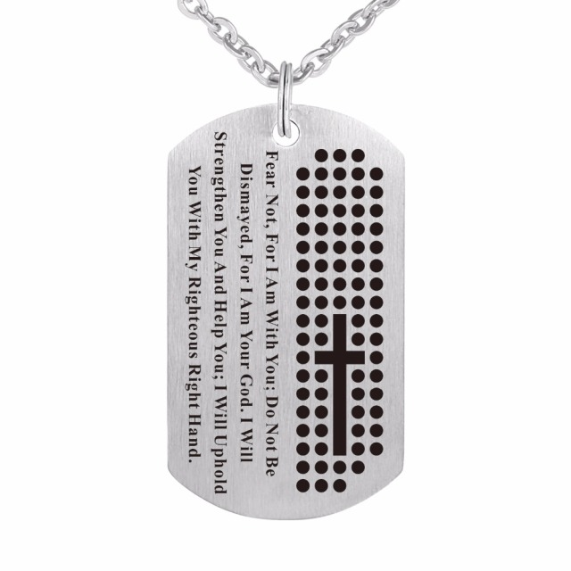 Zmzy dog tag cross necklace pendant 316l stainless steel chain zmzy dog tag cross necklace pendant 316l stainless steel chain black bible verse christian jewelry aloadofball Gallery