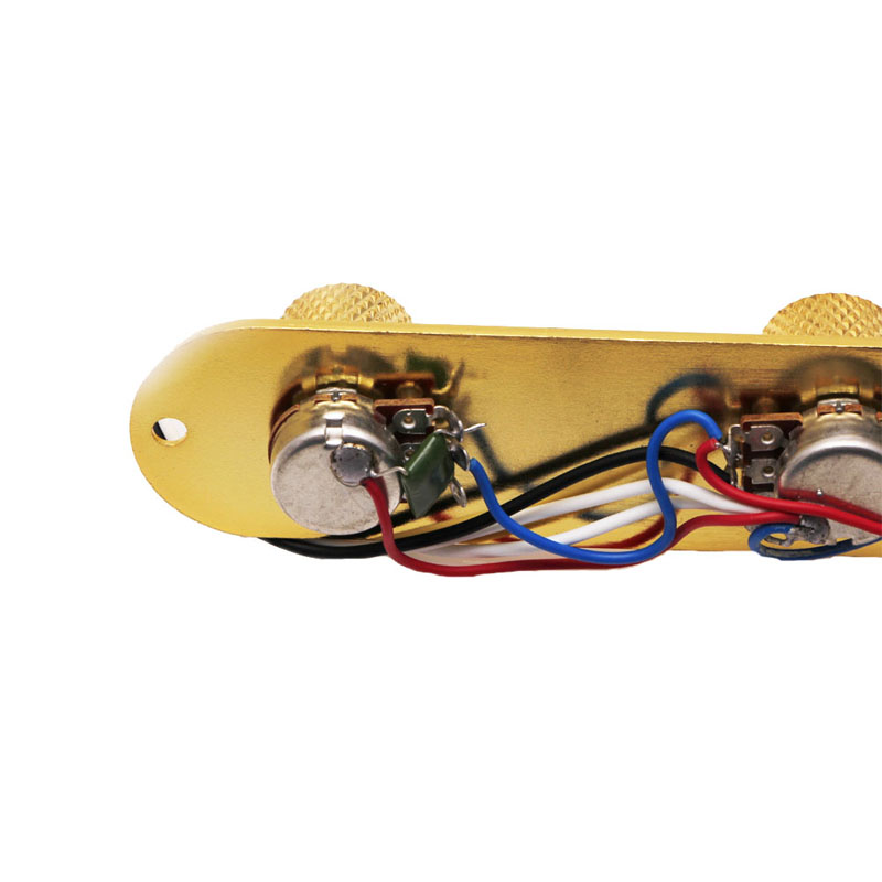 1pc Metal Gold/Black Loaded Control Plate 3Way Switch Plated Wired Control Guitar Parts & Accessories chrome plated wired control plate for jazz basstotal approx 152 54 mm l