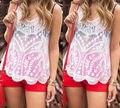 2016 Новые Моды для Женщин Лето Жилет Топ Без Рукавов Рубашки Повседневные Топы