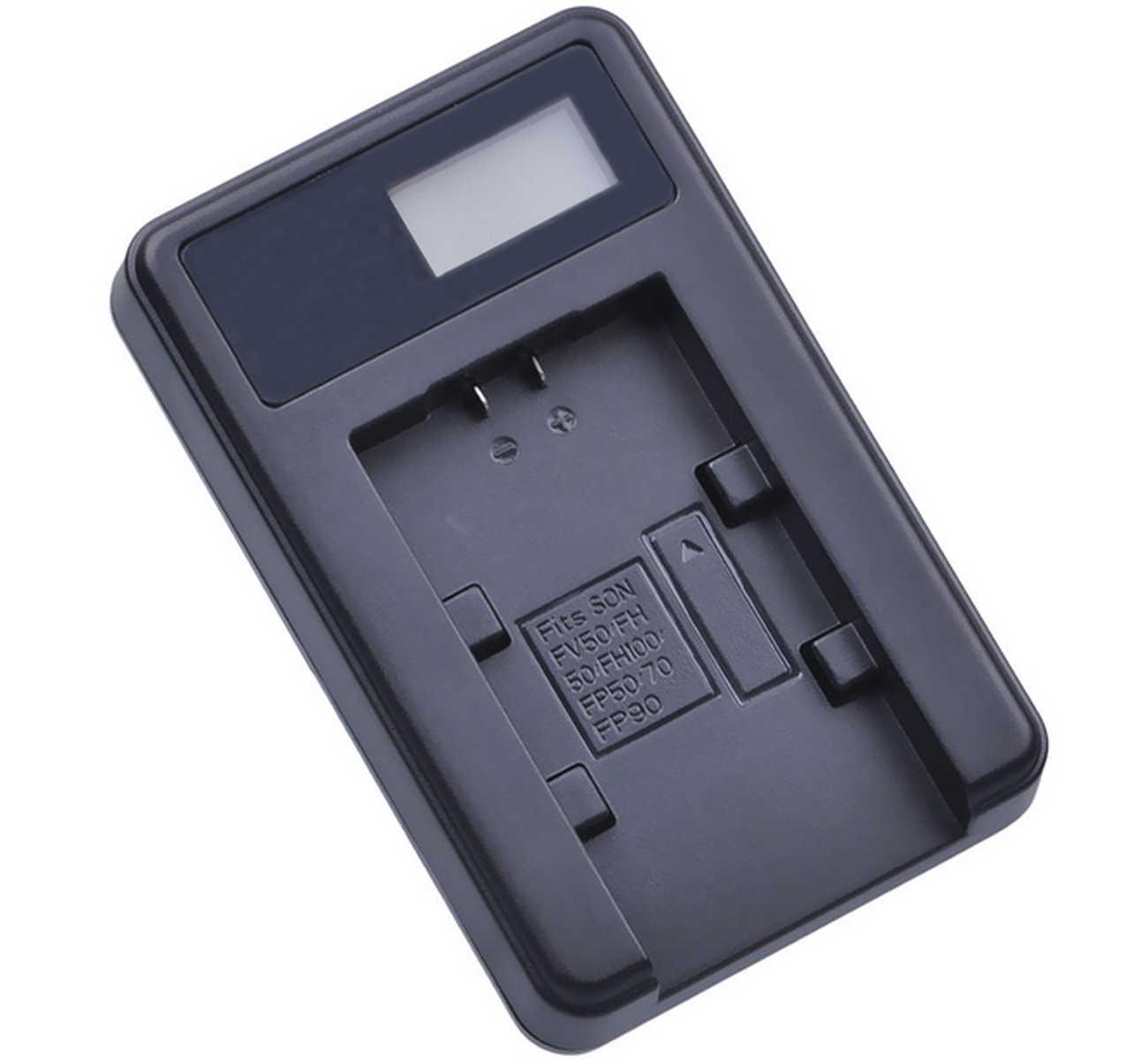 LCD USB Battery Charger for Sony DCR-HC16 DCR-HC18 DCR-HC17 DCR-HC19 Handycam Camcorder