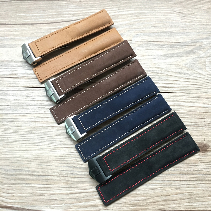 LUKENI 20mm Genuine Leather Watch Strap Black Brown Blue Watchbands For TAG Carrera Heuer LINK MONACO AQUARACER With Mark andreas gabalier köln