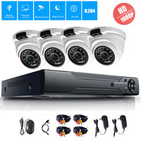 CCTV 4CH 1080P AHD Camera Kit P2P HDMI H.264 DVR Video Surveillance System Waterproof Outdoor Security Camera Kit