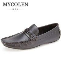 MYCOLENS Для мужчин обувь Slip On Мужские Мокасины минималистский дизайн мужские лоферы летние прогулки Повседневная дышащая обувь Мужская обувь