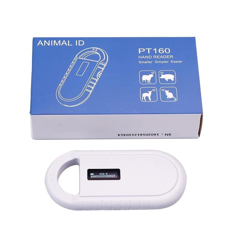 ISO11785/84 FDX-B Puce D'animal Familier Scanner Animal RFID Lecteur D'étiquette chien lecteur Tenu Dans la main Basse Fréquence RFID Lecteur