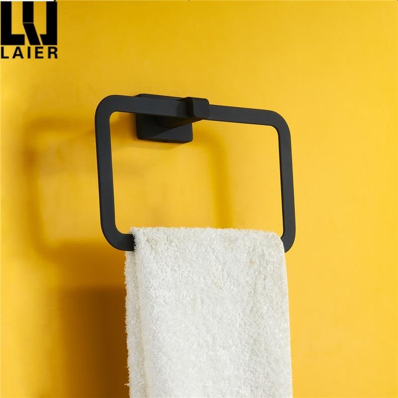 USA style Bathroom accessories hardware Decoration square big black ...