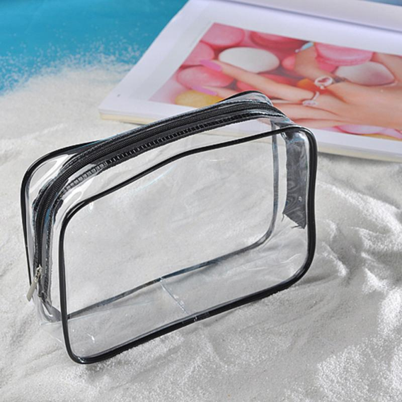 2017 New Portable Clear Travel Cosmetic Make Up Bag Transparent See Through AU02 dropship