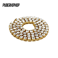 JFY New Design Men S Hip Hop Bling Bling Iced Out Chain 1 Row Necklaces Luxury