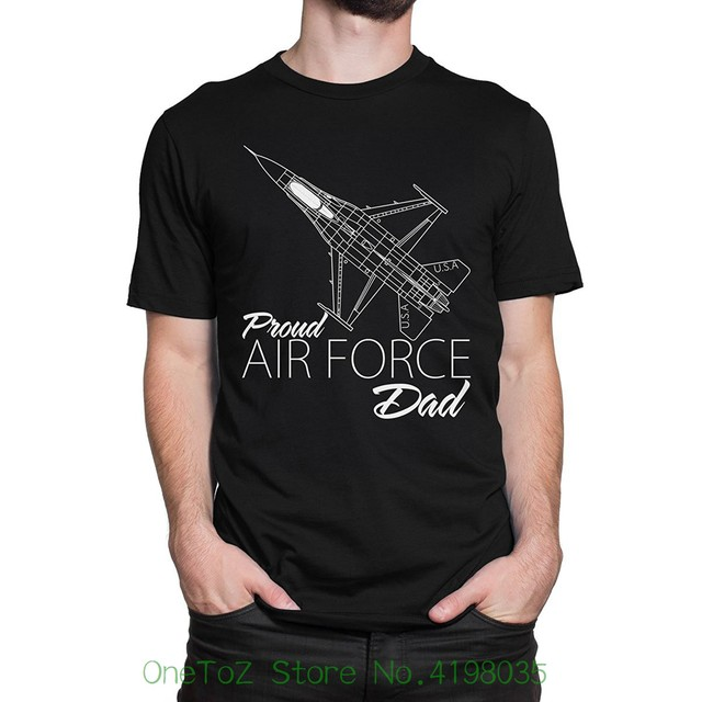 9a51eb08 Proud Air Force Dad Men's T-shirt Men's High Quality Custom Printed Tops  Hipster Tees