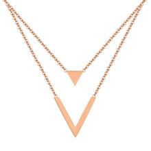 1 pcs Necklace Simple Delicate Triangle Attractive Fashionable Jewelry for Decoration Daily Wearing Party(China)