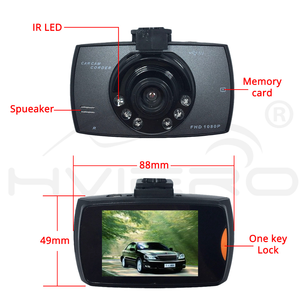 Full Hd 27 Lcd 1080p Original G30 Car Dvr Dash Cam Camera Night Pioneer Mirrors Tachograph Dual Lens Reversing Integrated Vision Hviero Vehicle