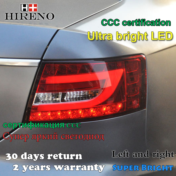 Hireno Car Rear Signal Light LED Tail Lamp Fit for Audi A6 C6 Sedan 2005 - 2008 free shipping for skoda octavia sedan a5 2005 2006 2007 2008 left side rear lamp tail light