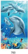 New Big Bath Men Beach Towels Horse Dolphin Microfiber Fabric 100*180cm Towel Bathroom Hotel Large For Adults
