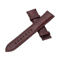 Wholesale 10PCS/lot 20MM 22MM 24MM 26MM genuine leather Cow leather Watch band Litchi grain watch strap man watch straps