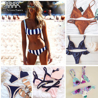 Summer Style Bikini Women Swimsuit Pineapple Printing Beachwear Swimwear NK71