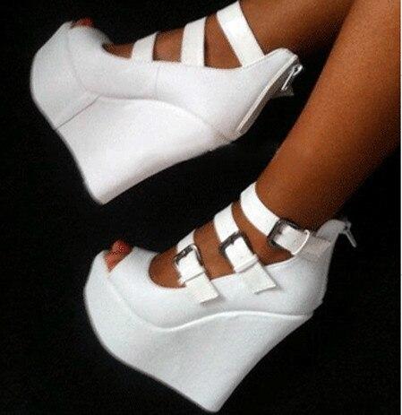 Sandalias de cuña para mujer nuevas Fghgf, sandalias blancas sexis y a la moda para bodas y fiestas-in Sandalias de mujer from zapatos on AliExpress - 11.11_Double 11_Singles' Day 1