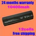 Jigu 12 células 10400 mah bateria para hp para compaq cq42 mu06 mu09 CQ32 G62 G72 G42 G72 G4 G6 G7 593553-001 DM4 Bateria g6