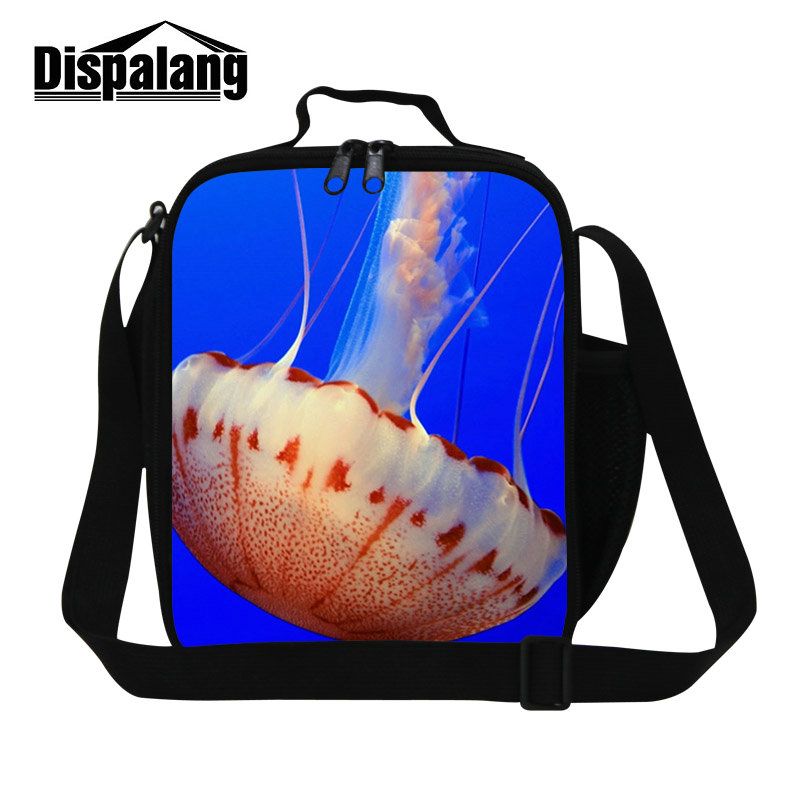 Dispalang Jellyfish marine organism new hot variety lunch bags for kids thermal insulated lunch cooler bag with zipper lunch box