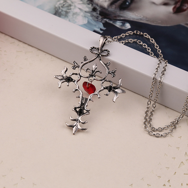 Punk Men And Women Necklace Alloy Gothic Cross Pendant Necklace