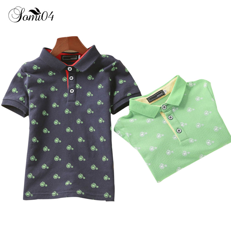 3-11 Years Kids Boy Print Polo Shirt 2018 Fashion Children Clothing Cool Summer Soft Cotton Permeability Child Short Sleeve Tops md 6350 underground metal detector gold detectors md6350 treasure hunter detector circuit metales page 9