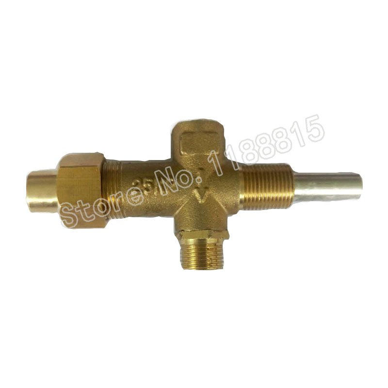 EARTH STAR Gas Heater Valve  brass safety valve With M12 Inlet and Outlet