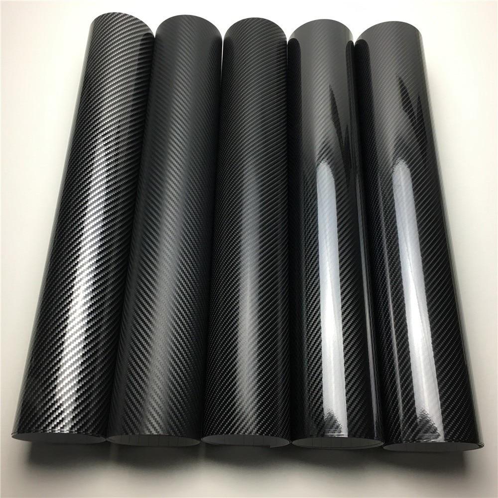 2D 3D 4D 5D 6D Carbon Fiber Vinyl Wrap Film Car Wrapping Folie Konsole Computer Laptop Haut Telefon Abdeckung Motorrad