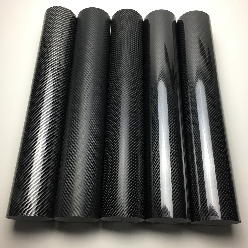 2D 3D 4D 5D 6D fibre de carbone vinyle Film d'enveloppe de voiture feuille d'emballage Console ordinateur portable peau téléphone couverture moto