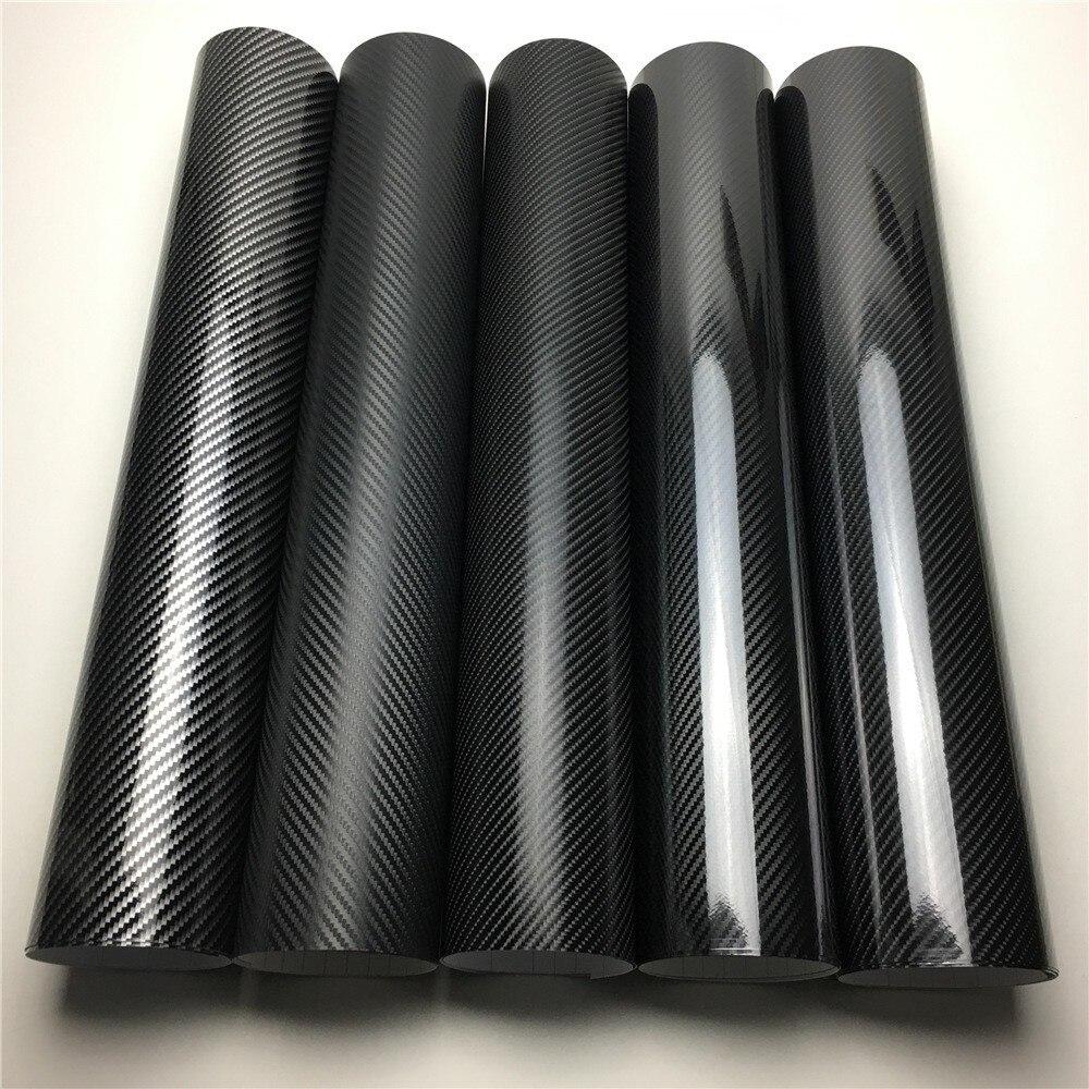 Película de revestimiento de vinilo 2D 3D 4D 5D 6D de fibra de carbono, película protectora de coche, consola de ordenador, portátil, funda de teléfono para motocicleta