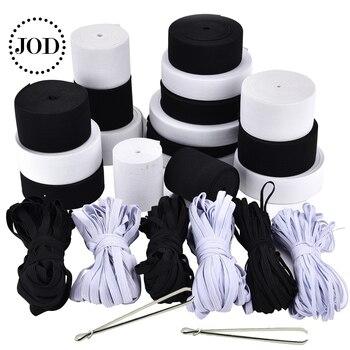 Blanco negro 5 m ancho: 3-60mm Nylon costura suave goma elástica para cinta ropa cuerda Ropa Accesorios ropa interior JODb goma cinta elastica cuerda cama elastica