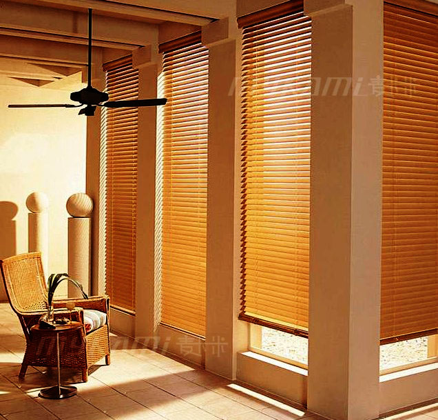 Free Shipping Rhyline Real Wood Horizontal Window Blinds Real Wood Made To Measure 5cm 3 5cm Width Slats