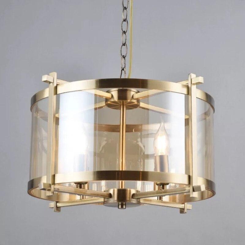 Vintage Restaurant Led Chandeliers Lighting Fixtures Chain Pendant 4 Bulbs Parlor Bedroom Coffee Shop Hanging Lamp Loft Deco|Pendant Lights| - AliExpress