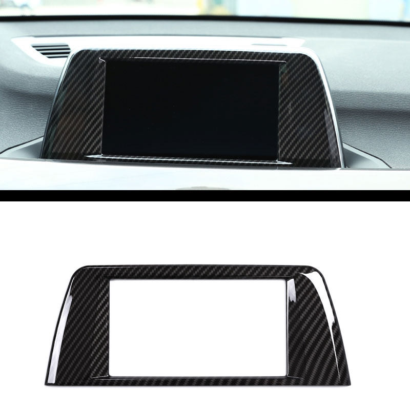 Chrom-Konsole Schalthebel 2018 Auto-Zubeh/ör Dekoration f/ür LHD ABS-Kunststoff Karbonfaser-Design f/ür X1 F48 2016