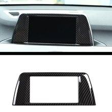 Углеродного волокна Стиль ABS Chrome Центр центральной навигации Панель Рамки крышка отделка Стикеры для BMW X1 F48 2016 2017 автомобилей интимные аксессуары