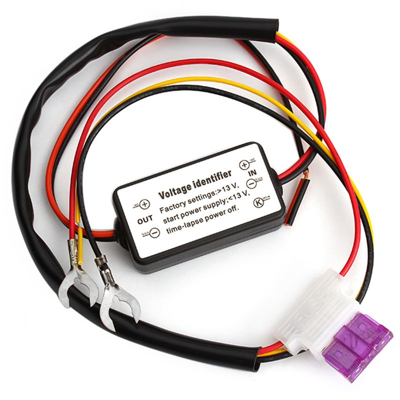 2015 Novo Controlador DRL Auto Car LED Daytime Running Luz Relé Harness Dimmer On/Off 12-18 V Controlador de Luz de nevoeiro # HP