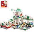 New city scene Hospitals emergency center Building Block Set 3D Construction Brick Toys for Children Compatible with legee