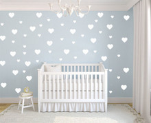 59pcs LOVE HEARTS removable wall stickers for Nursery or kids room adesivo de parede Mural Wallpaper Princess Girl Lovers D495