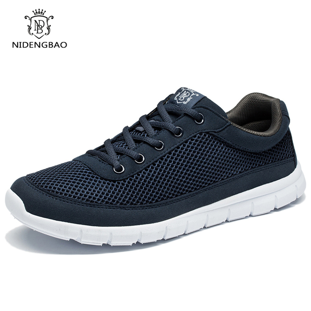 Sapatos de marca Homens Casual Respirável Lace-Up Andando Calçado Leve E Confortável Tênis De Malha Homens Sapatos Plus Size Preto 49 50