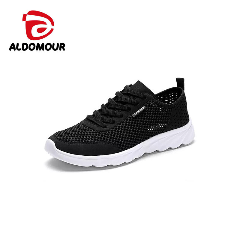 ALDOMOUR 2018 Breathable Mesh Running Shoes For Man Lightweight Summer Outdoor Sports Shoes Comfortable PAN