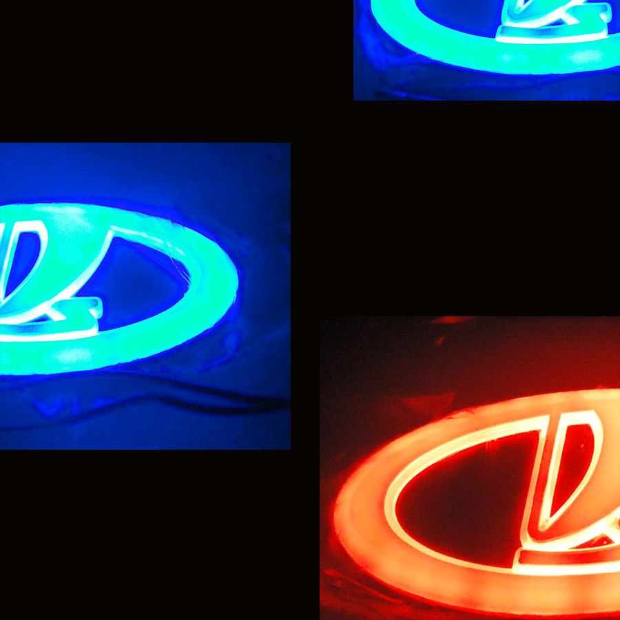 Freies Verschiffen nach Russland 4D LED Auto LOGO Licht/Lampe 4D LED auto abzeichen licht für VAZ Lada Samara 2110 2112 2113 2114 2115