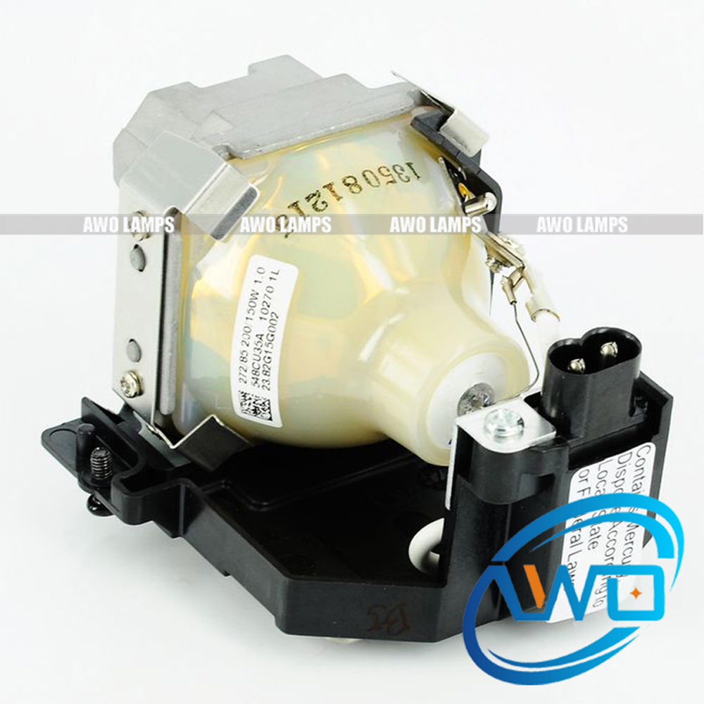 AWO Original Brand Projector Lamp UHP200/150W1.0 with housing LT30LP / 50029555 for NEC LT25 / LT30 / LT25G / LT30G Projectors free shipping original projector lamp with housing lt30lp 50029555 for nec lt25 lt30 lt25g lt30g projectors