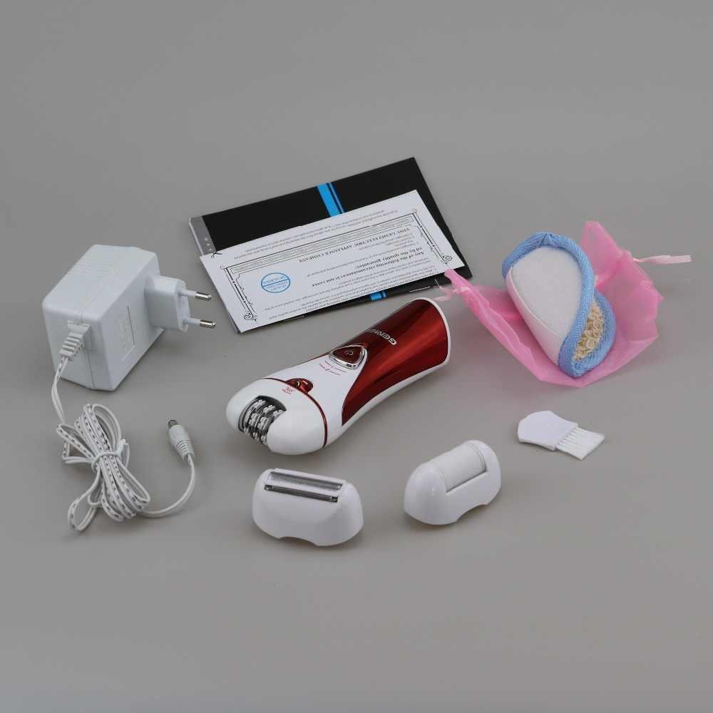 3in1 donne epilatore elettrico femminile viso di rimozione dei capelli della signora rasoio callo del piede set bikini trimmer corpo depilatoria gamba trimmer