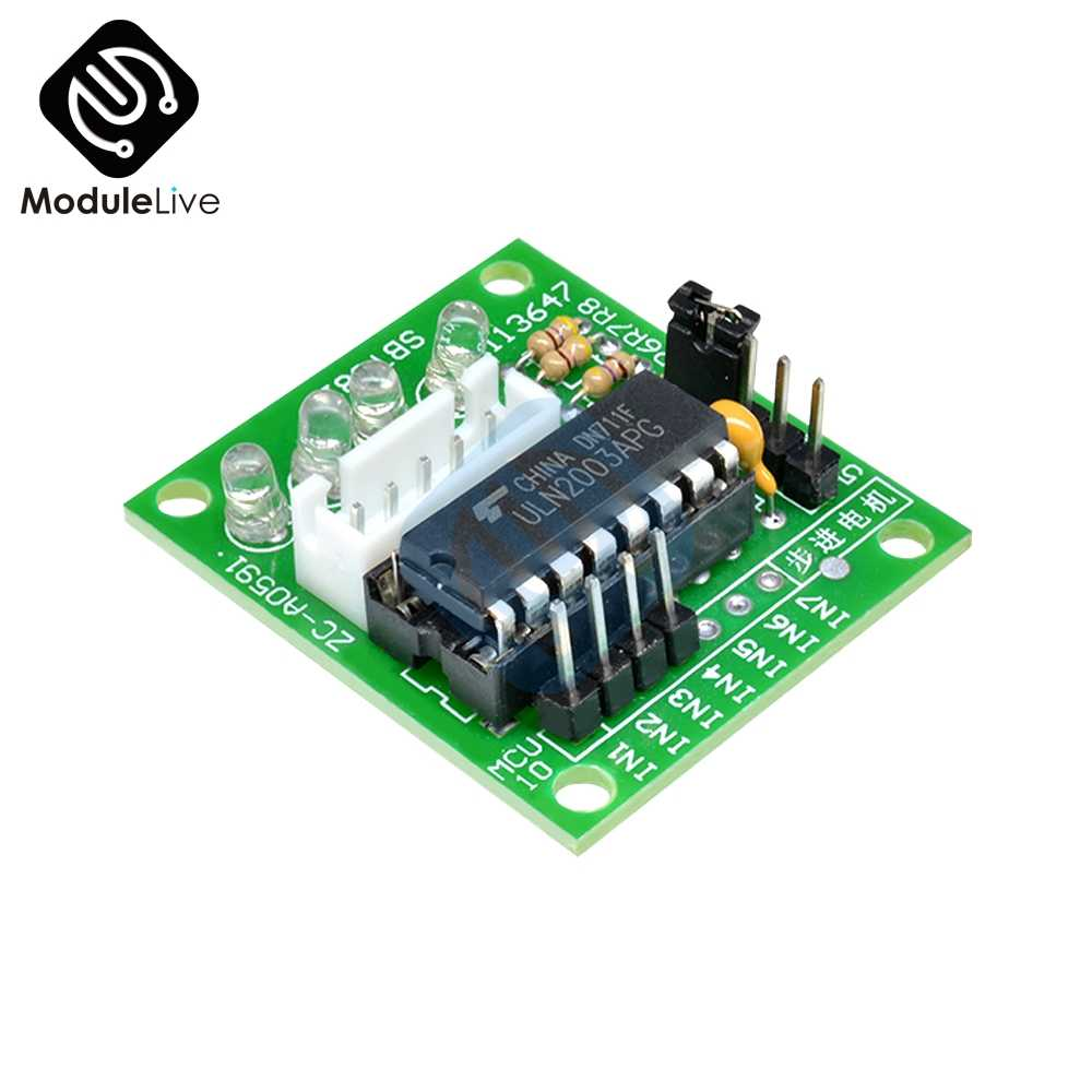 Módulo de Controlador de motor gradual ULN2003 CNC 3d 5-12V Arduino Raspberry Taller de flujo