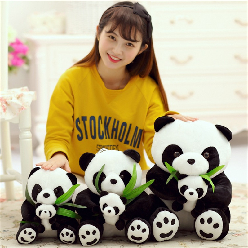 20 cm/30 cm/40 cm/50 cm Panda Mother&Baby Shape Pillow Plush Soft PP Cotton Pillows Cute Doll Toy Stuffed Animal