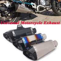 Motorcycle Exhaust Pipe Escape Universal Modified Moto CNC 51mm Muffler DB Killer For Z900 TRK502 CBR500 KTM 390 ZX 10R MT 09