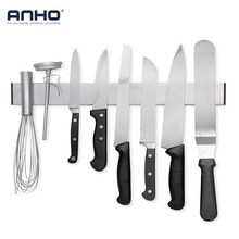 ANHO Stainless Steel Knife Holder Magnetic Strip 16 inch Wall Knife Block Storage Rack Save Space Bar Kitchen Utensil Tools